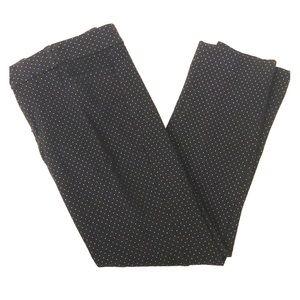 Banana Republic black white dot Sloan ankle pant